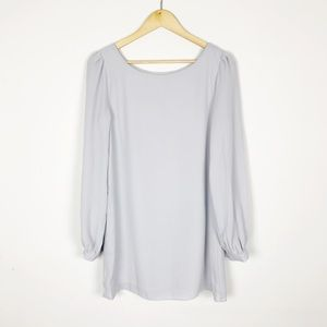 Lulu's Status Update Light Gray Mini Shift Dress